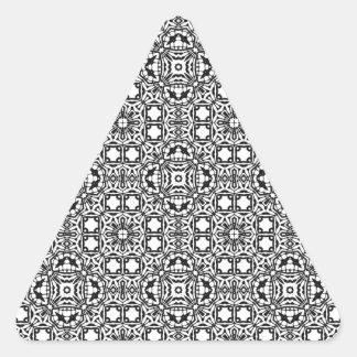 黒く及び白い催眠性の背景 三角形シール