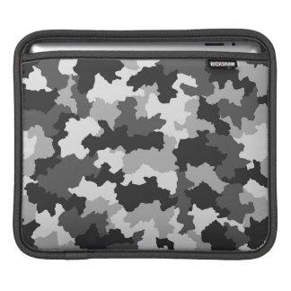 黒く及び白い北極のカムフラージュのiPadの袖 iPadスリーブ