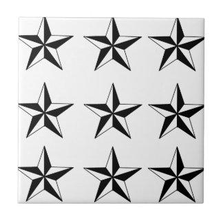 黒く及び白い星 タイル