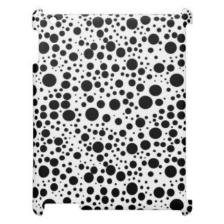 黒く及び白い水玉模様パターンiPad Miniケース iPad カバー