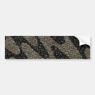 黒く及び白い波状のスパンコール バンパーステッカー