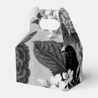 黒く及び白い灰色の調子花のToile No.1 フェイバーボックス