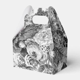 黒く及び白い灰色の調子花のToile No.3 フェイバーボックス