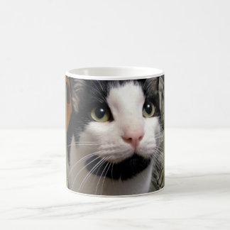 黒く及び白い猫のコーヒーカップ コーヒーマグカップ