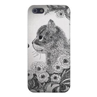 黒く及び白い猫のiPhone 5の箱 iPhone 5 カバー