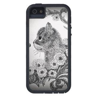黒く及び白い猫のiPhone 5の箱 iPhone SE/5/5s ケース