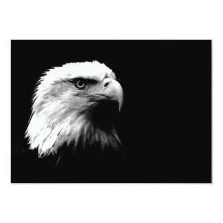 黒く及び白い禿げたアメリカのワシの招待状 カード