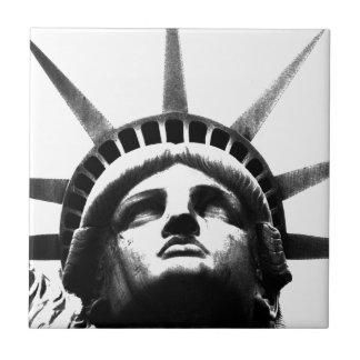 黒く及び白い自由の女神 タイル