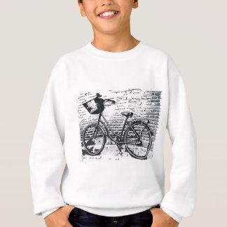 黒く及び白い自転車のスケッチ スウェットシャツ