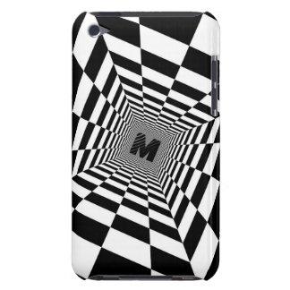 黒く及び白い視覚錯覚、モノグラムまたはイニシャル Case-Mate iPod TOUCH ケース