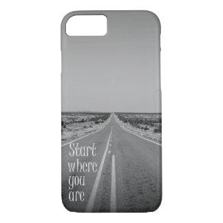 黒く及び白い道: どこにいるか始めて下さい iPhone 8/7ケース