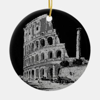 黒く及び白いColosseum セラミックオーナメント