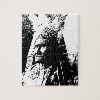 黒く及び白いGeronimo ジグソーパズル