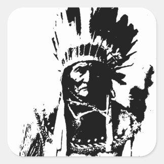 黒く及び白いGeronimo スクエアシール