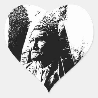 黒く及び白いGeronimo ハートシール