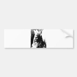 黒く及び白いGeronimo バンパーステッカー