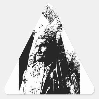 黒く及び白いGeronimo 三角形シール