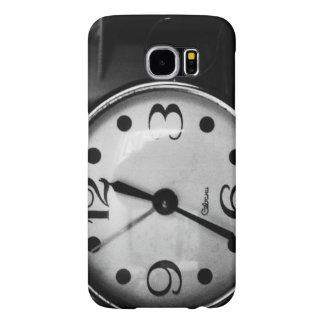 黒く及び白く古い時計 SAMSUNG GALAXY S6 ケース