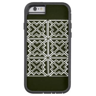 黒く及び白く幾何学的な芸術のデザインIの電話6箱 TOUGH XTREME iPhone 6 ケース