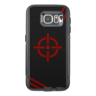 黒く及び赤いターゲット電話箱 オッターボックスSamsung GALAXY S6ケース