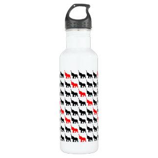 黒く及び赤い象のデザインの水差し ウォーターボトル