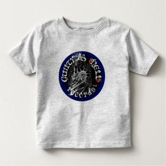 黒く及び青のロゴ トドラーTシャツ