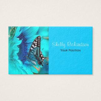 黒く及び青の蝶名刺 名刺
