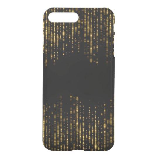 黒く及び魅力的な金ゴールドのグリッターのデザインGR1 iPhone 8 PLUS/7 PLUS ケース