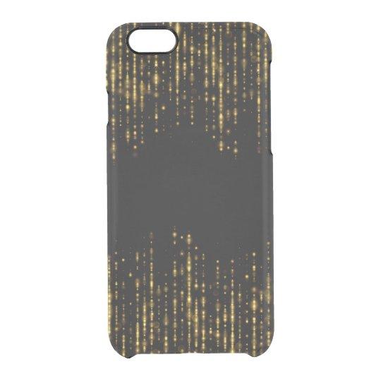 黒く及び魅力的な金ゴールドのグリッターのデザインGR4 クリアiPhone 6/6Sケース