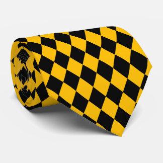 黒く及び黄色のダイヤモンドのタイ ネクタイ