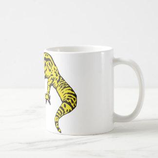 黒く及び黄色のヤモリ コーヒーマグカップ