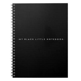 黒く小さいノート ノートブック