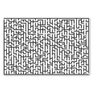 黒く巨大なライン当惑 薄葉紙
