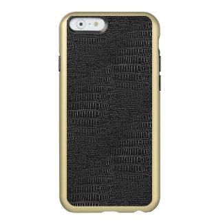 黒く現実的なわに皮の一見 INCIPIO FEATHER SHINE iPhone 6ケース