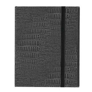 黒く現実的なわに皮の一見 iPad ケース