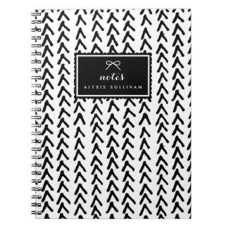 黒く素朴な種族パターン名前入りなノート ノートブック