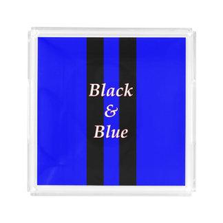 黒く青いトレイのイメージ トレー