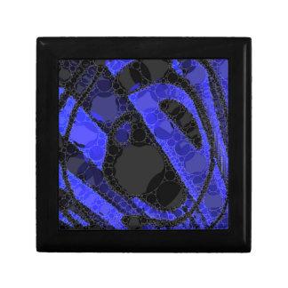黒く青くユニークな抽象芸術 ギフトボックス