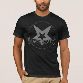 黒く静的な星のロゴのTシャツ Tシャツ