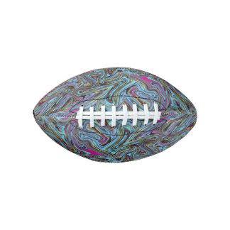 黒く黄色いピンクの青等の大理石模様にされた渦巻 アメリカンフットボール