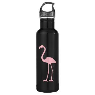 黒く、ピンクのフラミンゴ ウォーターボトル
