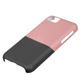 黒く、ピンクのVibeのiPhone 5の箱 iPhone 5C ケース