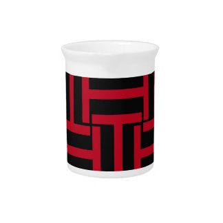 黒く、明るい赤Tの織り方 ピッチャー