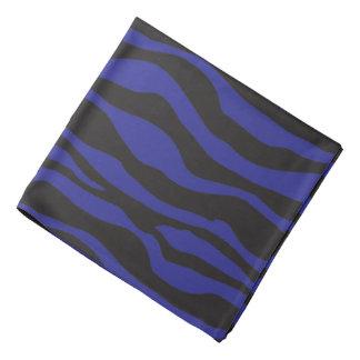 黒く、濃紺のシマウマのストライプのなデザイン バンダナ
