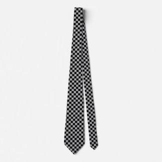 黒く、灰色によって点検されるタイ ネクタイ
