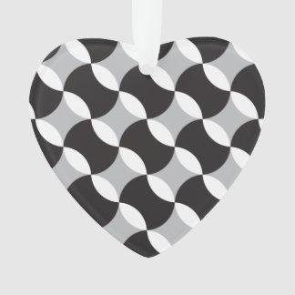 黒く、白いおよび灰色の円 オーナメント