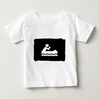 黒く/白いカヌー ベビーTシャツ