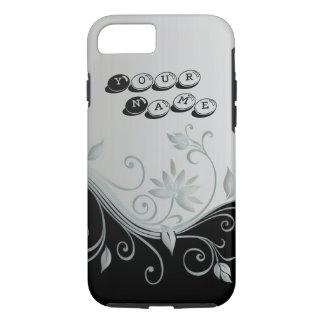 黒く/白い華麗さのデザイン iPhone 8/7ケース