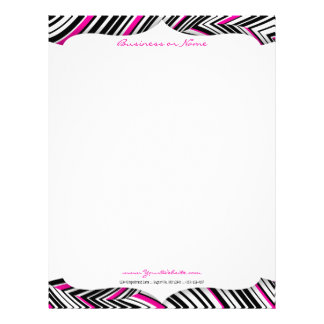 黒く、白及びピンクの波レターヘッド レターヘッド