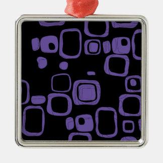 黒く、紫色、すみれ色のレトロの抽象美術のオーナメント メタルオーナメント